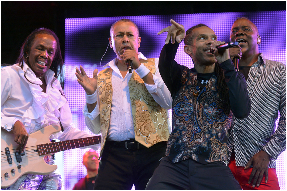 Earth, Wind & Fire perform during the Red Butte Garden 2014 Outdoor Concert Series Friday August 29, 2014.