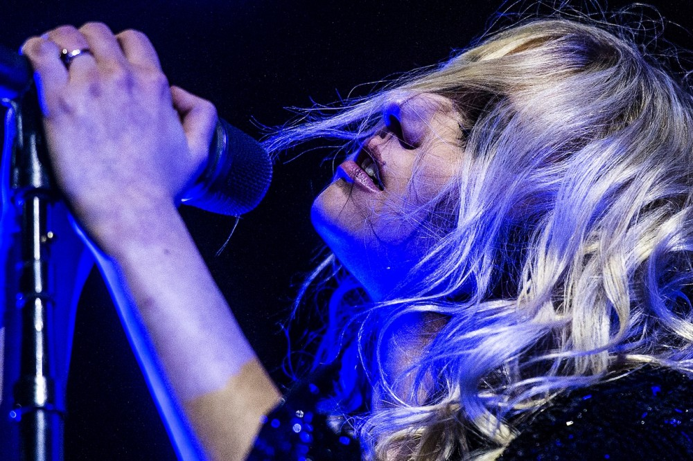 "The Pretty Reckless, featuring former ""Gossip Girl"" actress Taylor Momsen, perform at The Complex Thursday October 16, 2014."